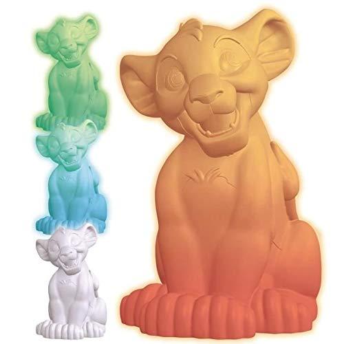 Lexibook NLJ105AN Simba Buntes Disney Der König der Löwen, Farben Nachtlicht für Kinder