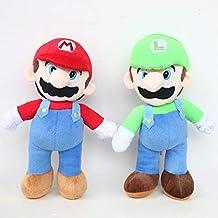 Juguete de Peluche 2 Unids/Lote Grande Tamaño 40 Cm Super Mario Stand Mario & Luigi Felpa Juguetes Muñeca Mario Bros Felpa Suave Relleno Juguetes para Niños Niños Regalo