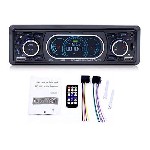 GOFORJUMP 8809 Bluetooth Voiture véhicule Lecteur mp3 Lecteur Audio stéréo avec Radio FM Carte TF Lecteur u Disque Micro télécommande