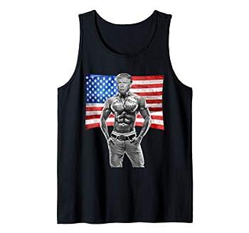 Gangster Pro Donald Trump Tattoo Republican American Flag US Tank Top