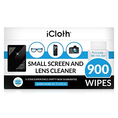 iCloth Lens and Screen Cleaner ProGrade Individually Wrapped Wet Wipes Wipes for Cleaning Small Electronic Devices Like Smartphones and Tablets Box of 900