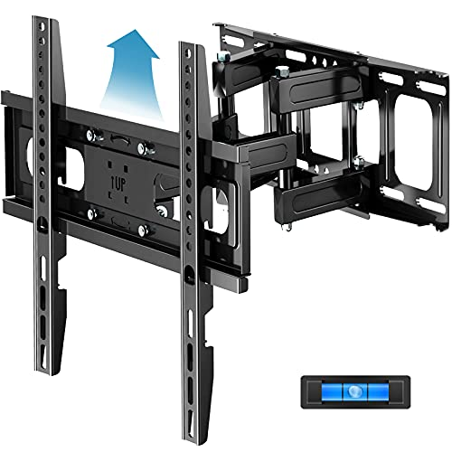 Full Motion TV Wall Mount with Height Setting FOZIMOA TV Mount for Most 32-65 inch LED LCD Plasma Flat Screen Articulating Swivel Tilt Extension TV Bracket up to 121lbs Loading Max VESA 400x400mm