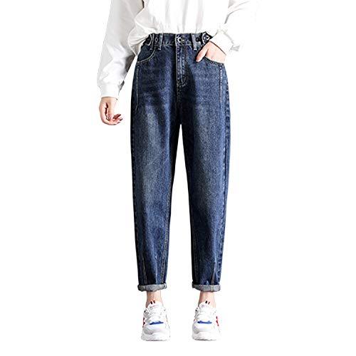 Losse Harem Vintage Jeans Vrouw Hoge Taille Licht Blauw Jongen Jeans Slim Potlood Vrouwen Jeans Cowboy Broek
