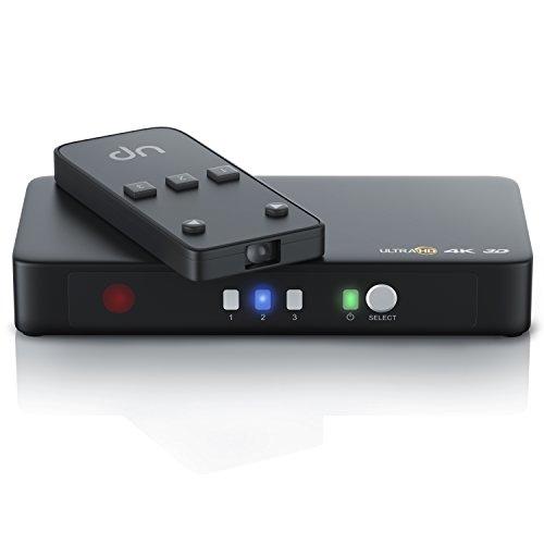 CSL - 4k HDMI Switch 3 Port Ultra HD HDMI Umschalter inkl. Netzteil - 3D Ready Ultra HD UHD 2160p - 3D CEC - 36-Bit Deep Color - 4k 2160p bei 30 Hz - HDCP