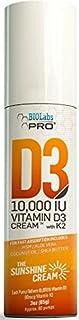 All Natural Vitamin D3 10000IU Vitamin D Cream - Two Month Supply - 3oz