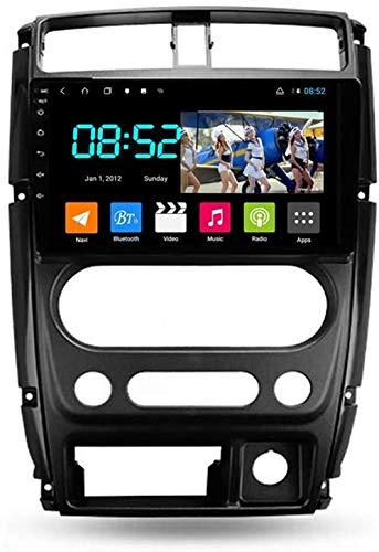 WXHHH Autoradio con Navi 2 DIN Bluetooth Android 9 '' Touchscreen WiFi Info Informazioni Auto Plug & Play Full RCA SWC Supporto Carautoplay/GPS/Dab + / OBDII per Suzuki Jimny 3 2005-2019,WiFi:1+16