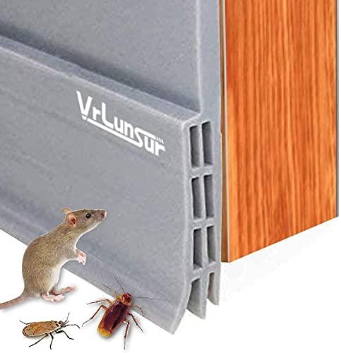 VrLunsur Unter dem Tür-Fegen-Wetter-abisolierenden Tür-unteren Dichtungs-Streifen, Zugluftstopper für Türen Schalldichtung Warme und Kälte Blocker Staubdichtung...
