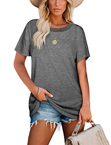 Soft Tshirts for Women Casual Tees Tops Short Sleeve Summer Shirts Loose Fit Tees XL