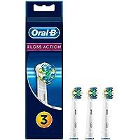 Oral-B FlossAction - Cabezal de Recambio, Set de 3 Recambios para Cepillo de Dientes Recargable, Limpieza Diente por Diente