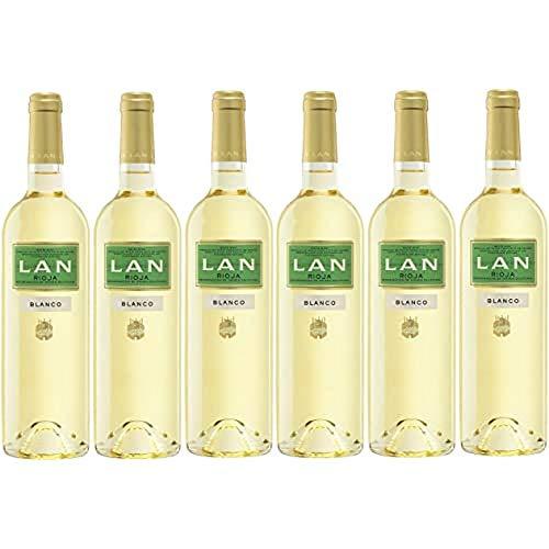 Vino Blanco LAN D.O.Ca.Rioja - 6 botellas de 750 ml - Total: 4500 ml