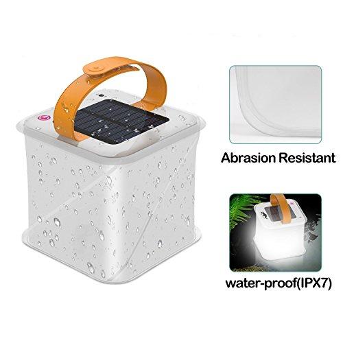 Solar Inflatable Lantern Survival Emergency Light Waterproof