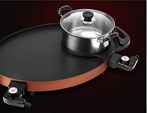 WJJJ Four électrique Barbecue Hot Pot Un Four Hot Pot électrique Teppanyaki Multifonction électrique Plaque de Cuisson pan de Maison Barbecue Pot