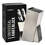 Knife Block Stainless Steel Without Knives - Modern Design Universal Knife Holder Kitchen -  Easy Clean Slotless Safe Knives - Space Saver Storage Knife Organizer