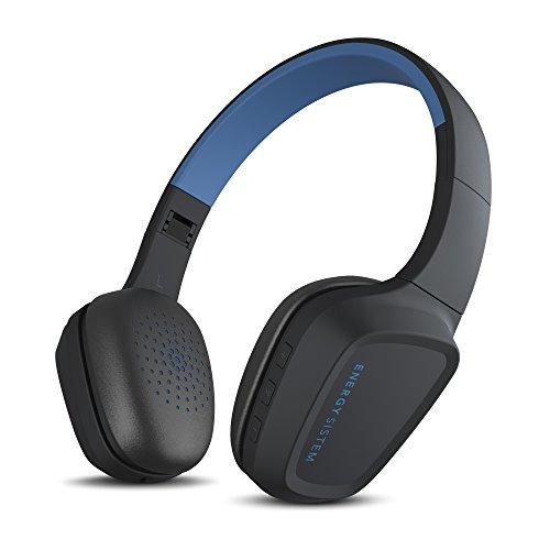 Energy Sistem Headphones 3 Bluetooth Blue (Auriculares inalambricos, Buetooth 4.1, Control de reproducción, Sistema de rotación, batería Recargable, Micrófono) - Azul