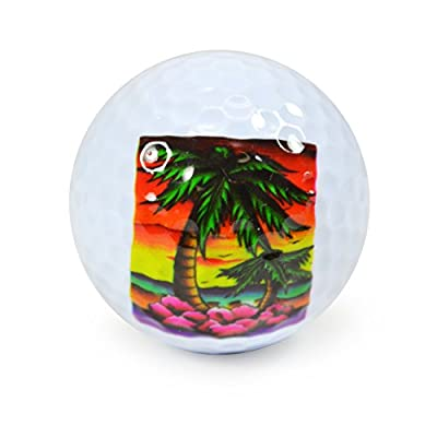 Nicks Underground Novelty Golf Balls - Paradise 3 Pack Display Tube