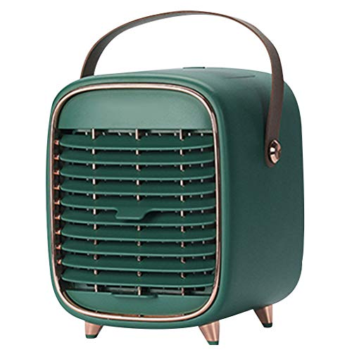 FOMIYES 1 unid refrigerador de aire miniatura humidificador portátil USB ventilador de mesa para oficina hogar ventilador decoración ventilador