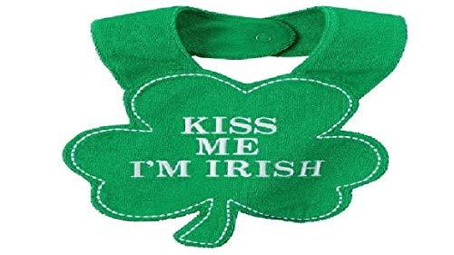 Carter's Kiss Me I'm Irish Shamrock Bib One Size Fits Most, Green