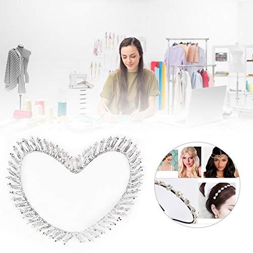 minifinker Cadena de Borla de Diamantes de imitación translúcida Accesorio Hecha a Mano para Collares para decoración(Cadena de borlas Plateadas 1 Talla)