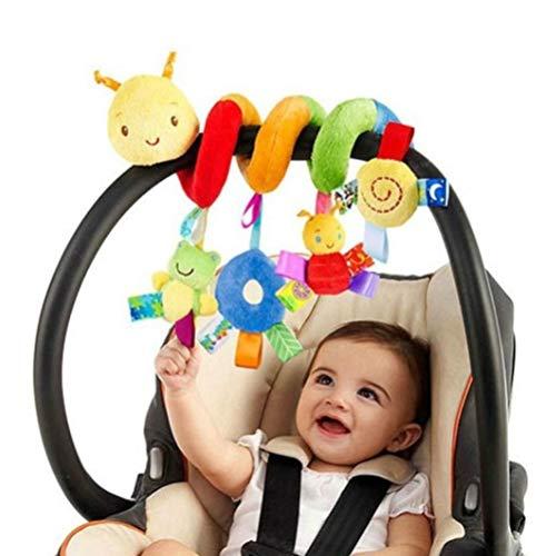 cheap4uk 1 Pieza Juguetes de Peluche en Espiral Juguete para la dentición del bebé Juguete de sonajero Colgante en Espiral Resistente a los arañazos Cuna móvil Cuna de Viaje Infant
