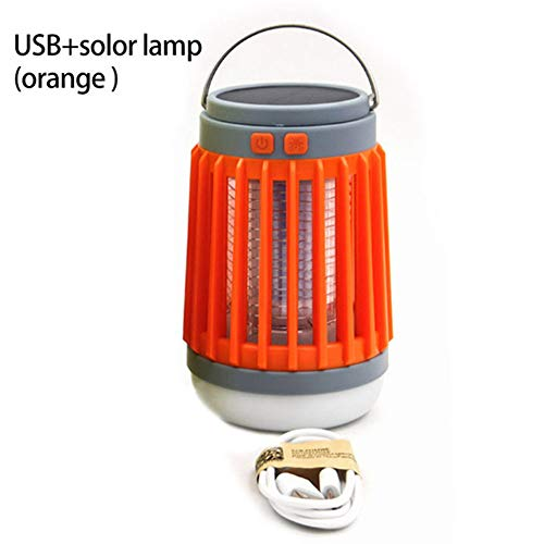 2 In1 LED USB Solar Power Muggen Killer Lamp Protable Lantaarn Outdoor Afstotend Licht Insect Bug Muggenval Moskito Camping