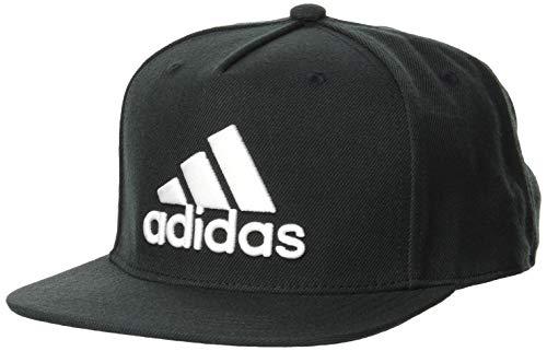 adidas SNAPBA Logo Cap Hat, Black/Black/White, OSFM