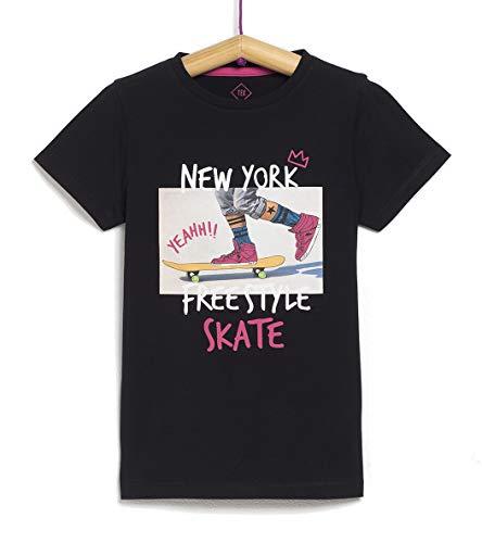 TEX 3616181416409 Shirt, Negro Neutro, 11-12 años para Niños