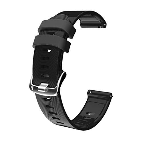 wufeng Sport-Silikon-Uhr-Band-Fitness-Armband-Sportuhr Silikon-Bügel-Ersatz für // 20mm, schwarz