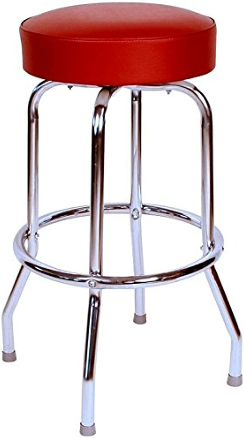 Budget Bar Stools 0-1950WIN Swivel Bar Stool, 16  L x 16  W x 30  H, Wine