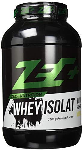ZEC+ Whey Isolat – 2500 g, Vanille │ Fettarmes Eiweißpulver aus reinem Molkenprotein