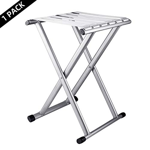 Folding Camp Stool 18.1in Height Comfortable Foldable,Hold up to 624lbs, Super Heavy Duty Camping Chair,Outdoor Big Tall Portable Adults for Fishing,Hunting,Sitting,Large Seat for Heavy Weight People