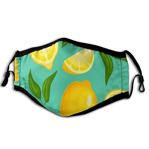 Masken Zitronenmuster Limonade Exotische gelbe saftige Frucht 15X23 cm Gesichtsmasken Mundabdeckung für Outdoor-Aktivitäten für Männer und Frauen, Laufen, Motorradfahren