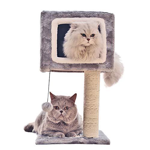 HO-TBO kat spelen boom toren, huisdier kat klimmen boom dubbele deur tegen de muur kat krasplank kat nest kat springen plank kat speelgoed exclusieve ruimte
