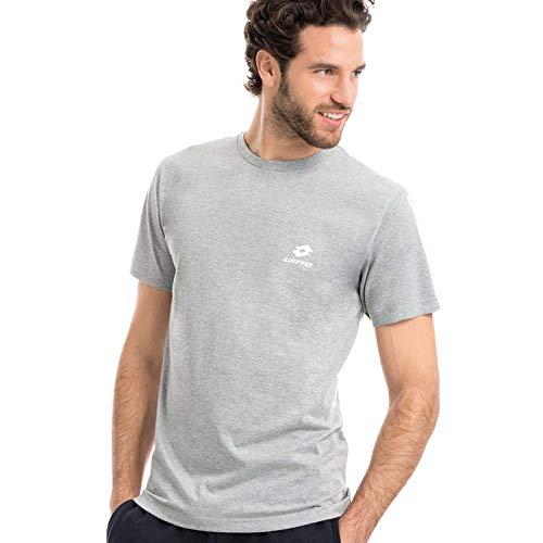 Lotto Camiseta de hombre de media manga de algodón para tiempo y actividad deportiva gris M