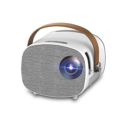 Mini Proyector Full HD 1080P Pantalla de 100 pulgadas Adecuada para el proyector de películas portátiles de la escuela de conferencias de oficina en el hogar con 30,000 horas LED LIFT LIFE 500G117.8 *