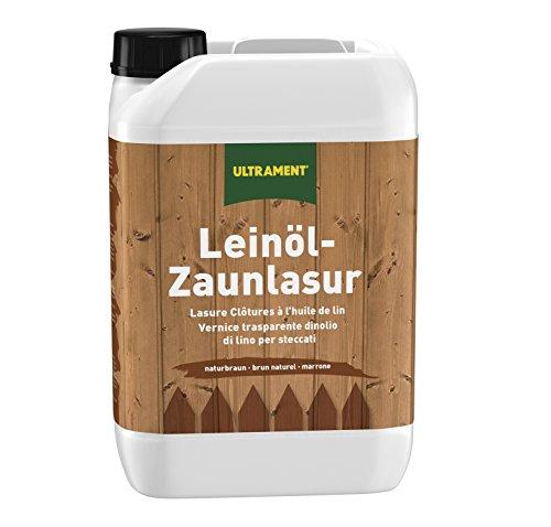 Ultrament Leinöl-Zaunlasur 5 l
