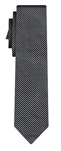 BOSS Seidenkrawatte pattern silver black
