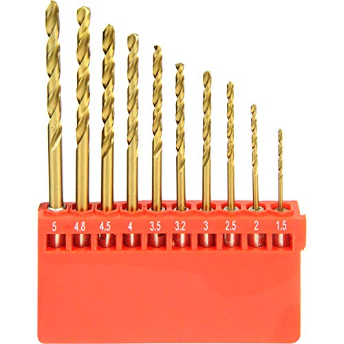 E-Value 六角軸 鉄工用ドリルセット チタンコーティング 10本組 ETDT-10HEX