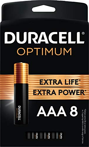 Duracell Optimum AAA Batteries | 8 Count Pack | Lasting Power Triple A Battery | Alkaline AAA Battery Ideal for Household and Office Devices | Resealable Package for Storage