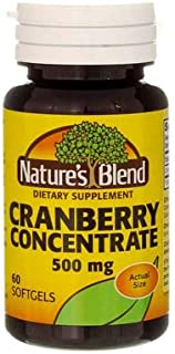 Nature's Blend Cranberry Concentrate 500 mg Soft Gels - 60 ct, Pack of 2