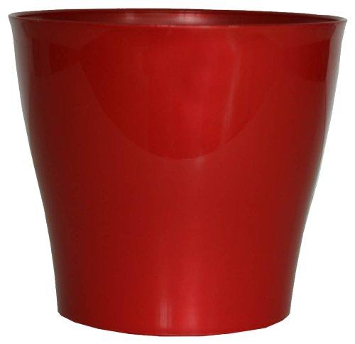 Floralo Geda 2822-R Casablanca Cache-Pot Rond Rouge Brillant 22 x 21 cm