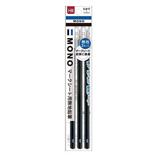 トンボ鉛筆 マークシート用鉛筆 MONO KN無地 HB ACA-312 3本 Japan