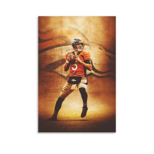 GSDGH Poster, Motiv: Fußballspieler Joe Flacco Sport, Leinwand-Kunst-Poster und Wand-Kunstdruck, modernes Familienschlafzimmer, 60 x 90 cm