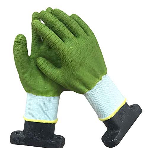 WEHOLY Arbeits- und Versicherungshandschuh, vollständig hängend, natürliches Latex, rutschfest, tragbar, knitterfrei, getaucht