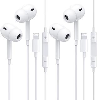2 Pack Auriculares para iPhone, con micrófono de Llamada y Ajuste de música Auriculares internos con reducción de Ruido Hi...