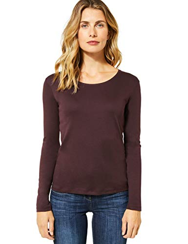 Cecil Damen 315350 Langarmshirt im Style Pia T-Shirt, red Mahogany, XX-Large