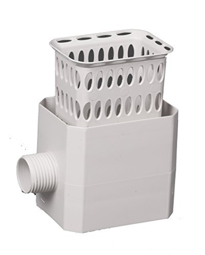 Flex-Drain 37042 Catch-A-Raindrop Rainwater Colander Kit, 2 x 3-Inch, White by Amerimax Home Products