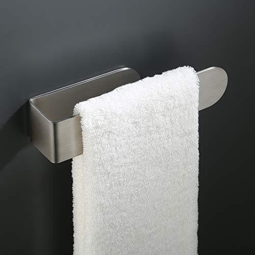 KES Handtuchhalter ohne Bohren Bad Handtuchstange Selbstklebend Handtuchring Edelstahl SUS304 Handtuch Halter Kleben Organizer Gebürstet, BTH215S20ADM-2