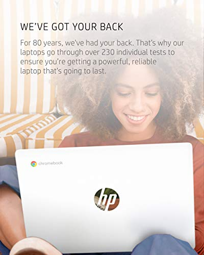 Product Image 6: HP Chromebook 11-inch Laptop – Up to 15 Hour Battery Life – MediaTek – MT8183 – 4 GB RAM – 32 GB eMMC Storage – 11.6-inch HD Display – with Chrome OS – (11a-na0021nr, 2020 Model, Snow White)