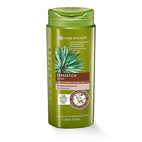 Yves Rocher PFLANZENPFLEGE HAARE reparierendes Shampoo, Haarshampoo Repair & Pflege, für strapaziertes Haar, 1 x Flacon 300 ml