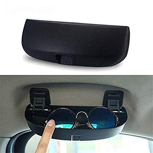 YOUYOUNXunkonw Estuche para Gafas de Coche, para Mercedes Benz W203 W204 W205 W210 W124 W212 W211 CE Clase Accesorios Soporte para Gafas de Sol Caja de Almacenamiento-Negro
